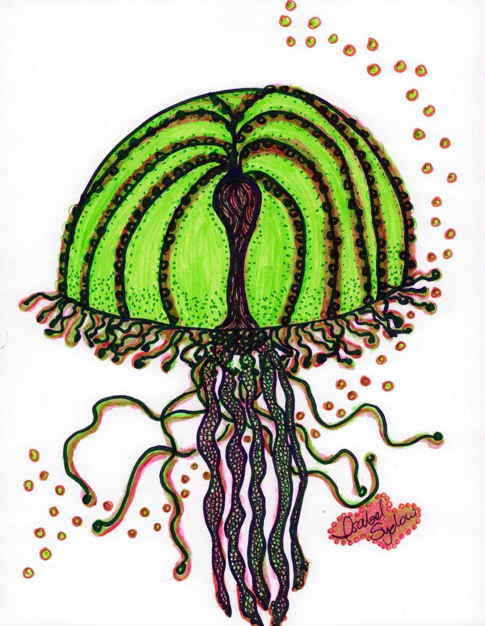 Jelly Fish Verde Sandia