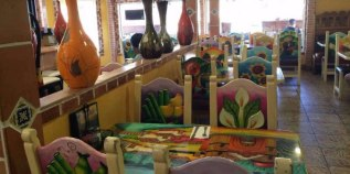 Inside Mexican restaurant La Hacienda, walking distance from the Big and Juicy Grape, our Sonoma Valley AirBnb.