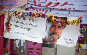 """Memorial Banner to Richard """"Rico"""" Martin at El Brinquito"""