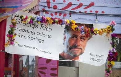 "Memorial Banner to Richard ""Rico"" Martin at El Brinquito"