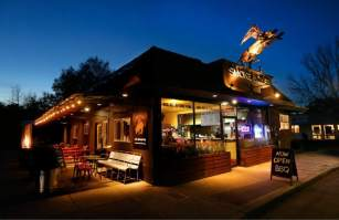 Meat as meant to be. Cochon Volant Smoke House BBQ restaurant just steps away from The Big and Juicy Grape our Guest House in Sonoma Valley.