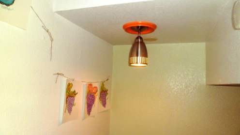 Colorful lighting by Richard at our Sonoma Valley guest house The Big and Juicy Grape.