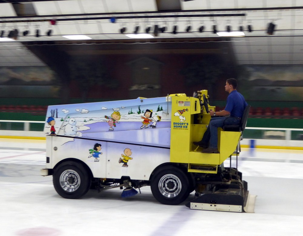 Zamboni at Redwood Empire Ice Arena: Snoopy's Home Ice