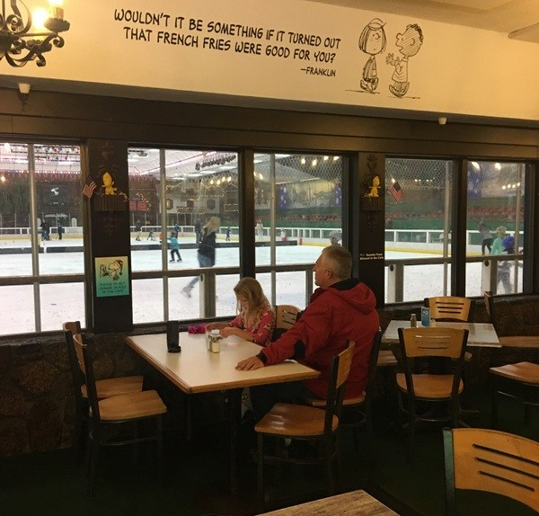 Warm Puppy Café looking into the rink